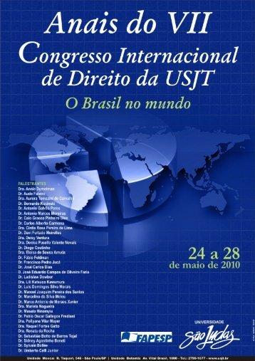 Anais do Congresso - Universidade São Judas Tadeu