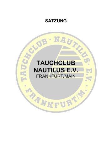 Satzung - Tauchclub Nautilus eV