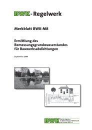 Merkblatt BWK-M8 Ermittlung des Bemessungsgrundwasserstandes ...