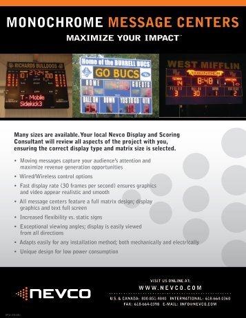 Download MonochromeSpec Sheet - Nevco