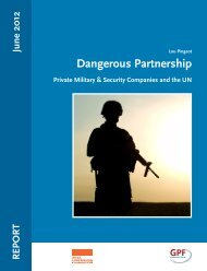 Dangerous Partnership - Private Security Monitor
