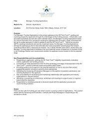 SDTC Job Description