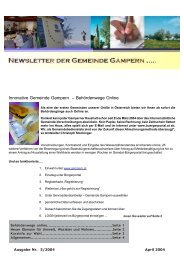 Newsletter 3/2004 - Gampern