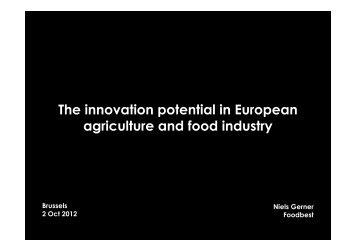 The innovation potential in European agriculture ... - ERRIN Network