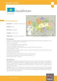 fiche pays Kazakhstan - ILE-DE-FRANCE INTERNATIONAL