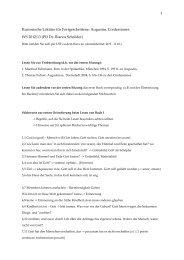 Kursorische Lektüre für Fortgeschrittene: Augustin, Confessiones ...