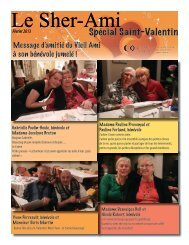 Le Sher-Ami Spécial Saint-Valentin – Février 2013 - Les Petits Frères