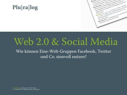 Web 2.0 und Social Media Präsentation von Jona Hölderle