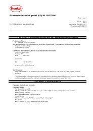 Sicherheitsdatenblatt gemäß (EG) Nr. 1907/2006