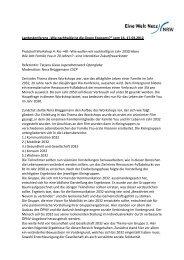 Protokoll - Eine Welt Netz NRW