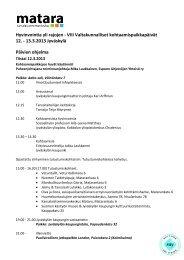 Hyvinvointia yli rajojen - VIII Valtakunnalliset ... - Kansalaisareena