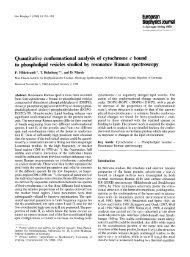 Quantitative conformational analysis of cytochrome ... - Membrane