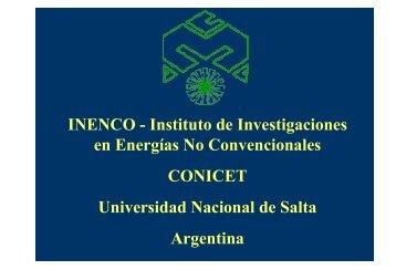 Instituto de Investigaciones en Energías No Convencionales ...