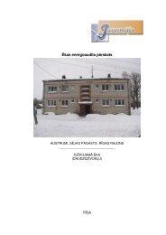 Ēkas energoaudita pārskats - Sējas novads
