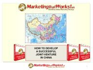 how to develop a successful joint-venture in china - Marketing that ...