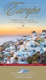 the connoisseur's 2010 voyages - Oceania Cruises