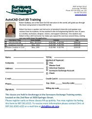 Robert Gadbaw's Civil 3D Training Schedule and Registration Form ...