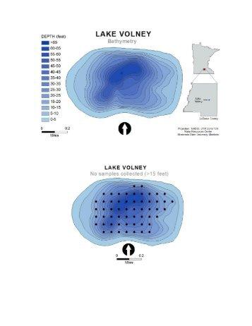 2009 Lake Volney Vegetation Survey Maps and Summary