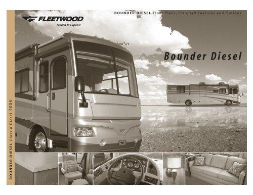 2006 Fleetwood Bounder Brochure With Floorplans And Specs