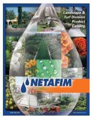 Drip Irrigation Catalog - Netafim USA - Midwest Turf & Irrigation