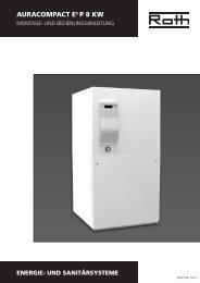 Wärmepumpe AuraCompact P 8 kW - Roth Werke