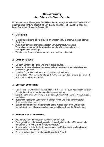 Entwurf Hausordnung - Erfurter Schulen - Informationsportal
