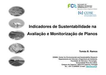 Indicadores de Sustentabilidade na Avaliação e Monitorização de ...