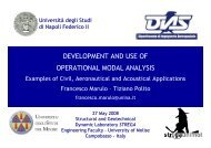development and use of operational modal analysis - ReLUIS