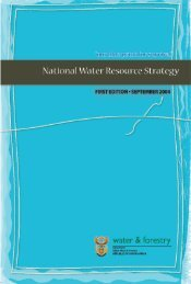 National Water Resource Strategy - Water Research Commission