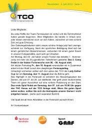 Newsletter - 2. Juli 2012 - Seite 1 - TCO Lorsch