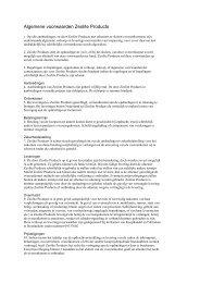Algemene voorwaarden Zeolite Products