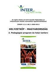 Pedagógiai program és helyi tanterv - inter-studium.hu