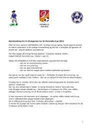 U 18-pigernes tur til Veronello Cup 2012 - Støvring IF