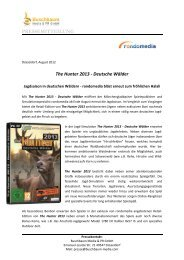 The Hunter 2013 - Deutsche Wälder - Rondomedia