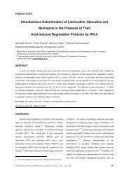 Simultaneous Determination of Lamivudine, Stavudine and ...