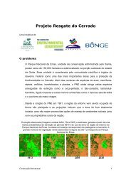 Projeto Resgate do Cerrado - Conservação Internacional