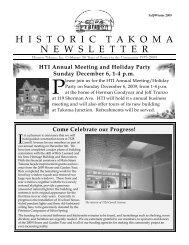 historictakomanewslet ter - Historic Takoma Inc.