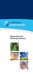 Bioproducts and Bioenergy Directory - LifeSciences BC
