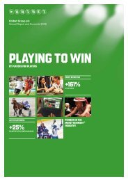 Annual Report and Accounts 2009 - Unibet