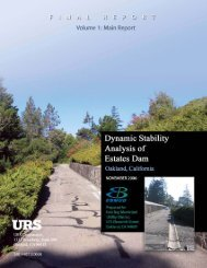 Dynamic Stability Analysis of Estates Dam Volume 1 - East Bay ...