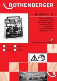 Titelbild RO-KLIMA II Paket A+NL-P 0806 - Rothenberger