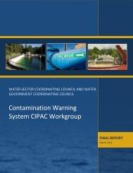 Contamination Warning System Working Group - Rural Water