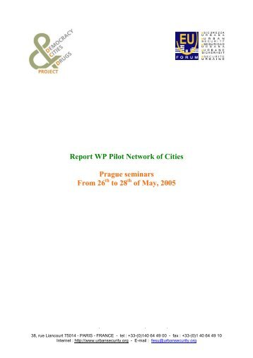 Report WP Pilot Network of Cities Prague seminars From 26th to ...
