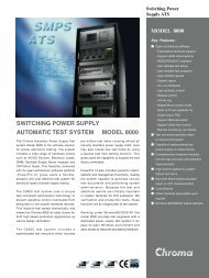 switching power supply automatic test system model 8000 - Chroma ...