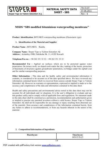 SBS Modified Membranes - Bitumex.com.tr