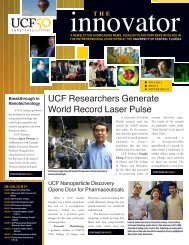 Winter 2012 - The Innovator - University of Central Florida