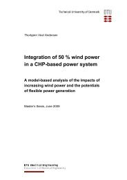 Integration of 50 % wind power in a CHP-based ... - Ea Energianalyse