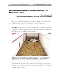 Basic Recommendations for Naturally Ventilated Calf Barns (modified