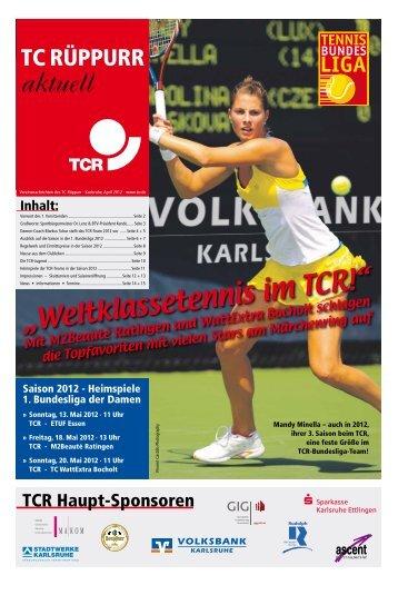 aktuell - Tennis Club Rüppurr 1929 eV - tcr.de