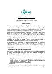 POLITICA RECURSOS HUMANOS - Municipalidad de Vitacura